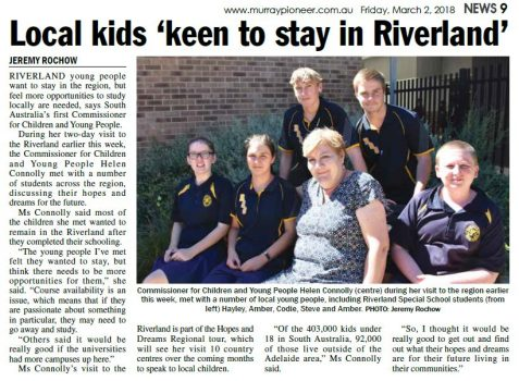 newspaper article of commissioner and kids