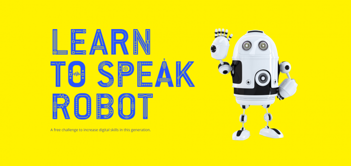 yellow robot poster