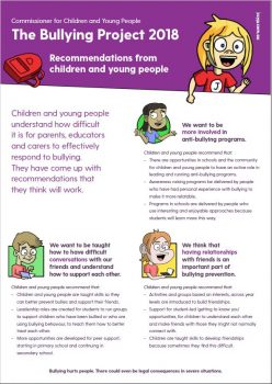 bullying poster with cartoons