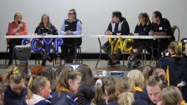 panel of school children