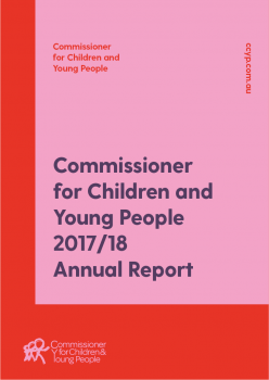 pink and red annual report cover