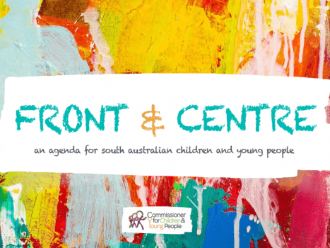 front and centre report with painted background