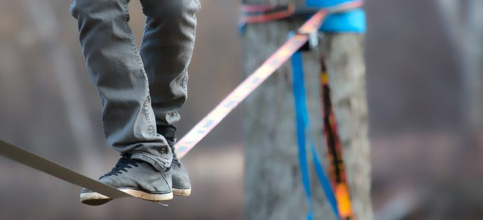 boy in tightrope