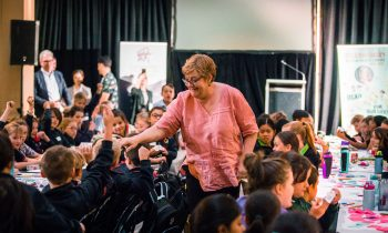 Children's Laureate meets with 100 child writers at SA State Library!