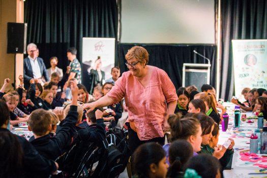 commissioner helen connolly talking to school children