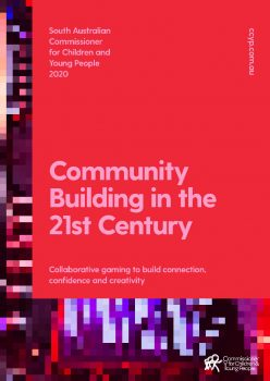 red cover of Community Building in the 21st Century report