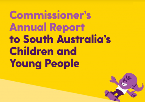 yellow logo of commissioners annual report
