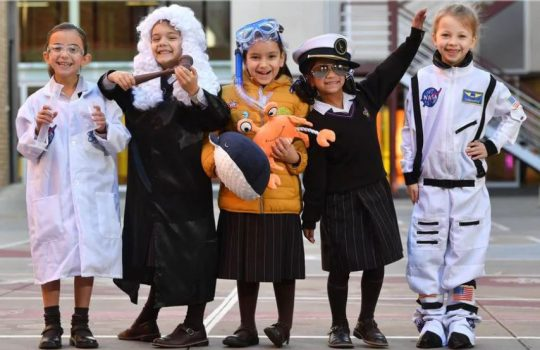 group of children in costume