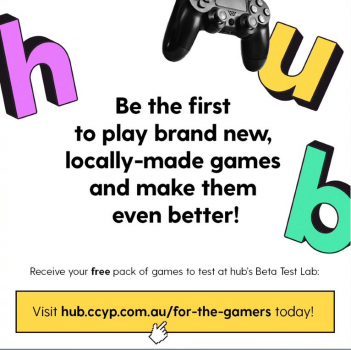 hub logo with game remote