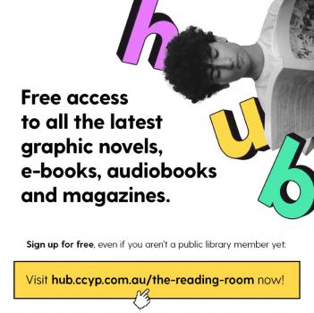 hub logo with boy