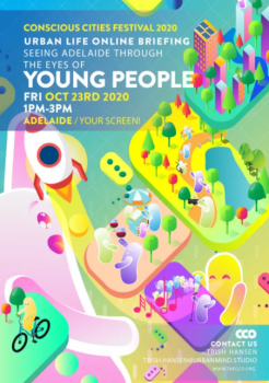 Colourful event poster for conscious cities